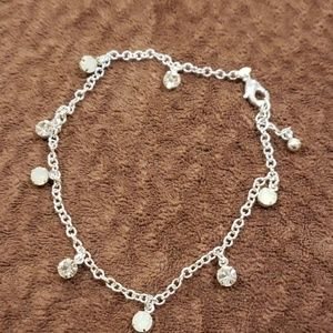Avon's Everyday Embellished Anklet in silver tone